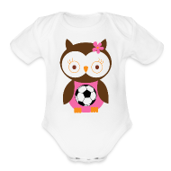 Baby Bodysuits ~ Baby Short Sleeve One Piece ~ Future Soccer Player Girl Baby Tshirt