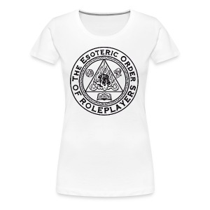 Esoteric Order of Roleplayers Logo Shirt (Women's Dark Logo) - Women's Premium T-Shirt