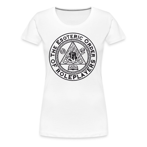 Esoteric Order of Roleplayers Logo Shirt (Women's Dark Logo) - Women's Premium T-Shirt