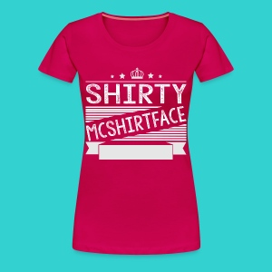 Women's Shirty Mcshirtface 2 - Women's Premium T-Shirt