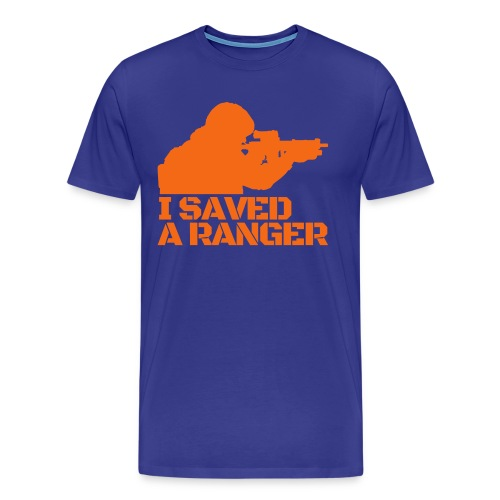 I Saved A Ranger - T-Shirt Blue/Orange - Men's Premium T-Shirt