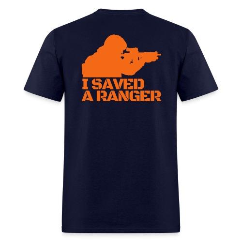 I Saved A Ranger - T-Shirt Black/Orange - Men's T-Shirt
