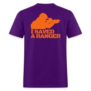 I Saved A Ranger - T-Shirt Purple/Orange - Men's T-Shirt