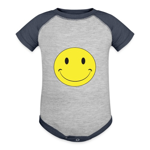 Smiley Face Baby - Contrast Baby Bodysuit