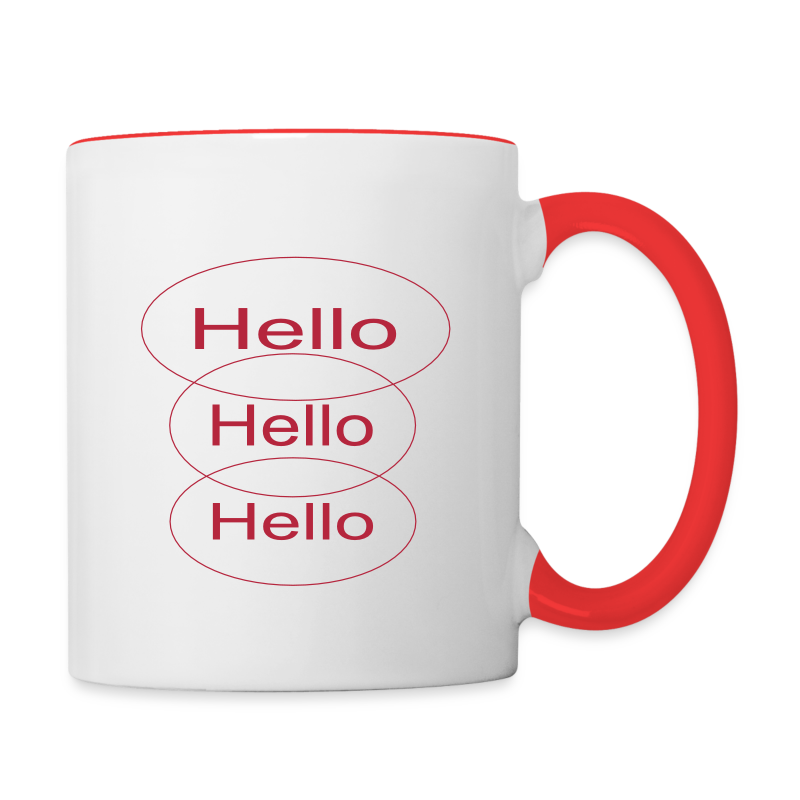 hello - Contrast Coffee Mug