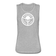 Tanks ~ Women's Flowy Muscle Tank by Bella ~ Ladies Renegade Skull Muscle Tank