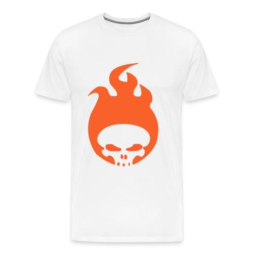 RadicalOne95's Flaming Skull Logo - Men's Tee - Men's Premium T-Shirt