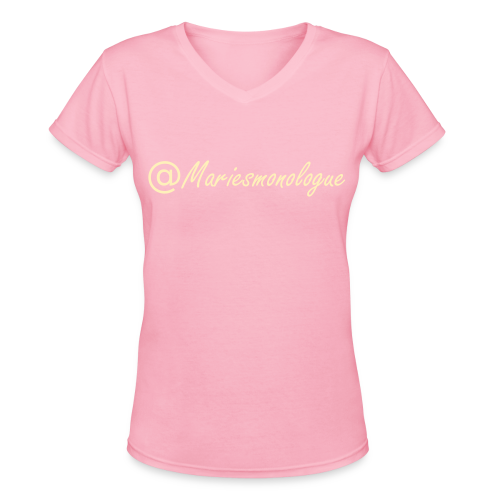 @MariesMonologue Tee - Women's V-Neck T-Shirt