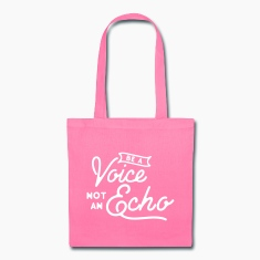 Be a voice not an echo Bags & backpacks