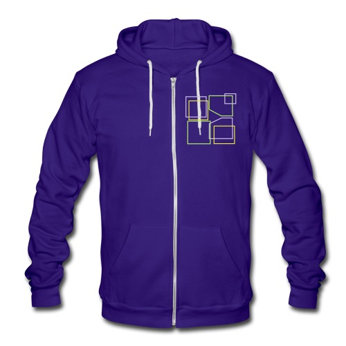 Unisex: Donald Louch Outline Fleece Zip Hoodie - Unisex Fleece Zip Hoodie