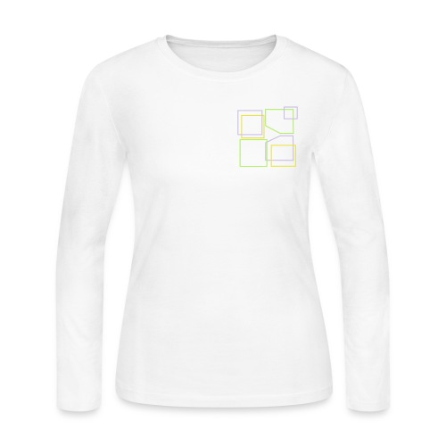 Women: Donald Louch Outline Long Sleeve Jersey T-Shirt - Women's Long Sleeve Jersey T-Shirt