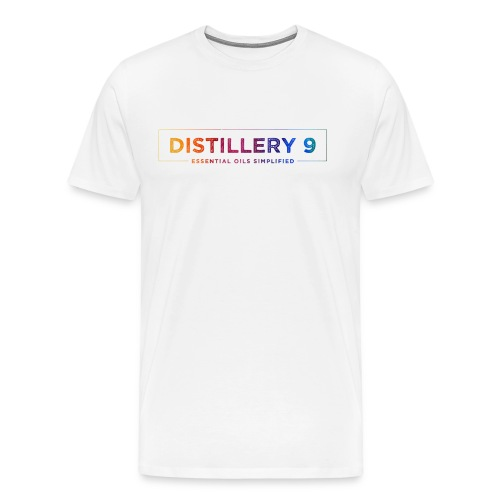 Men's Premium T-shirt with Rainbow Distillery9 Logo - Men's Premium T-Shirt