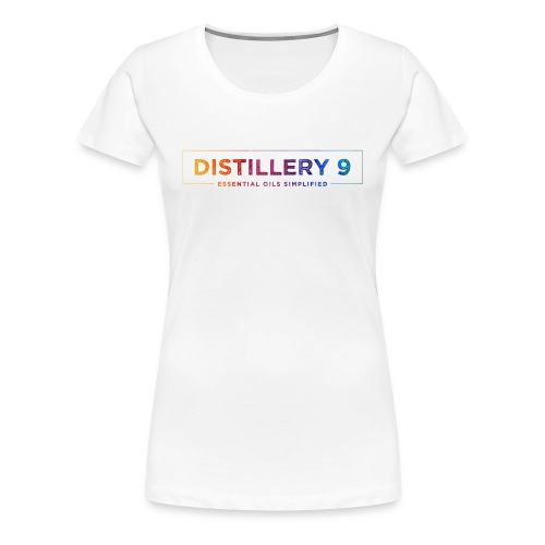 Women's Premium T-Shirt with Rainbow Distillery9 logo - Women's Premium T-Shirt