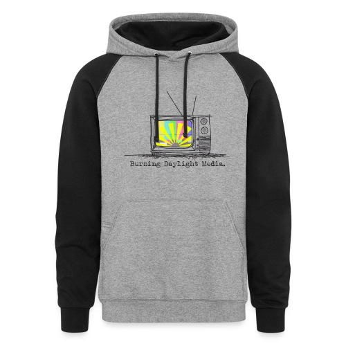 Burning Daylight Media Black/Grey Hoodie - Colorblock Hoodie