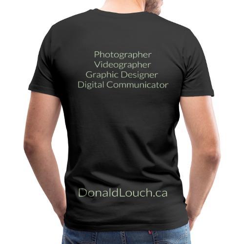 *SPECIAL* Premium Donald Louch Outline T-Shirt Glow-In-The-Dark - Men's Premium T-Shirt