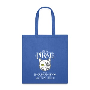 Funny Pirate Kitty - Tote Bag