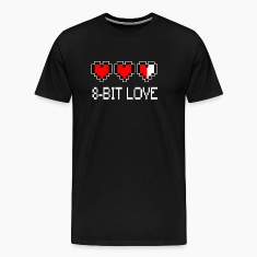 8 Bit Love Heart t shirt