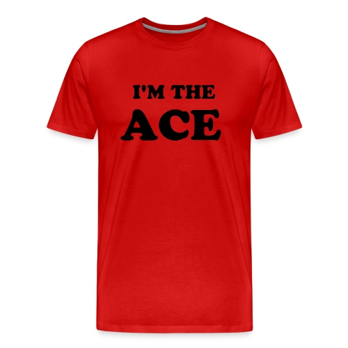 I'M THE ACE Men's T-Shirt - Red/Black - Men's Premium T-Shirt