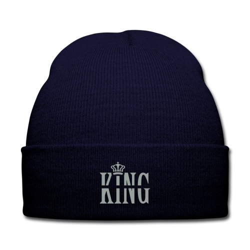 King's Crown - Knit Cap with Cuff Print