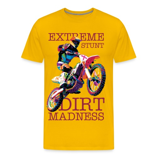 Extreme Stunt (Sun Yellow) - Men's Premium T-Shirt