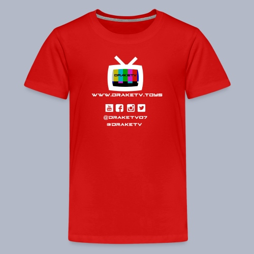 Kids DrakeTV T-Shirt White Logo - Kids' Premium T-Shirt