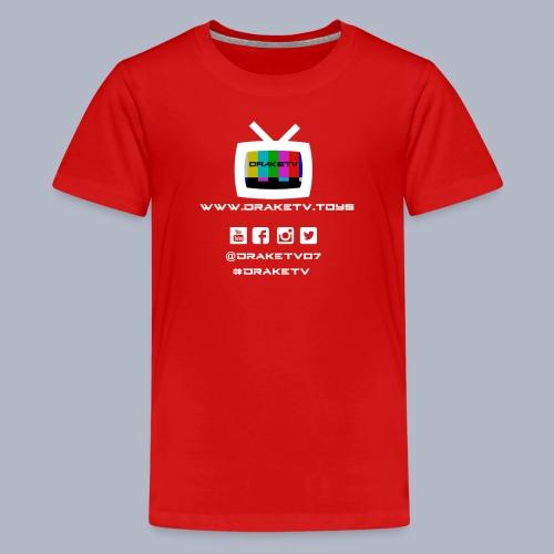 Kids DrakeTV T-Shirt White Logo - Kids' Premium T-Shirt