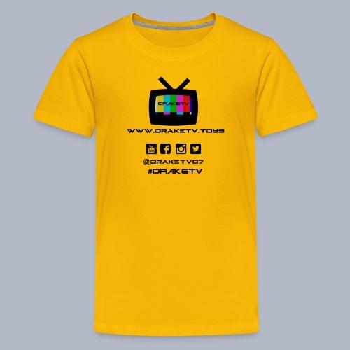 Kids DrakeTV T-Shirt Black Logo - Kids' Premium T-Shirt