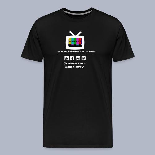Mens DrakeTV T-Shirt White Logo - Men's Premium T-Shirt