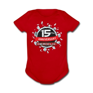 HeroClix 15th Anniversary Baby Short Sleeve One Piece - Short Sleeve Baby Bodysuit