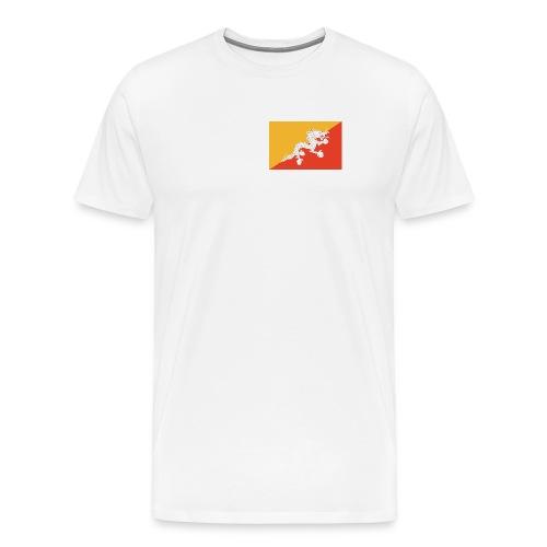 Bhutan Flag Shirt - Men's Premium T-Shirt