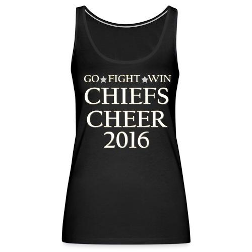 ROC Cheer 2016 Womens Tank Charcoal Grey (no back design) - Women's Premium Tank Top