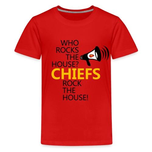 ROC Chiefs Rock The House Red Kids Tee (w back design) - Kids' Premium T-Shirt