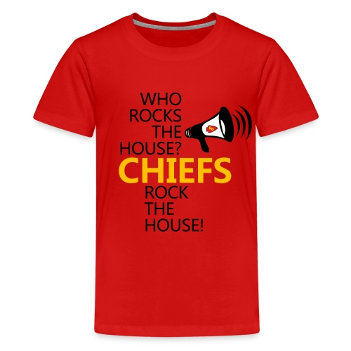 ROC Chiefs Rock The House Red Kids Tee (w back design) - Kids' Premium T-Shirt