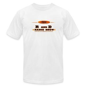 The RnD Radio Show Logo Stoney Quote Shirt  - Men's Fine Jersey T-Shirt