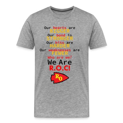 ROC We are ROC Heather Grey Mens Tee (no back design) - Men's Premium T-Shirt