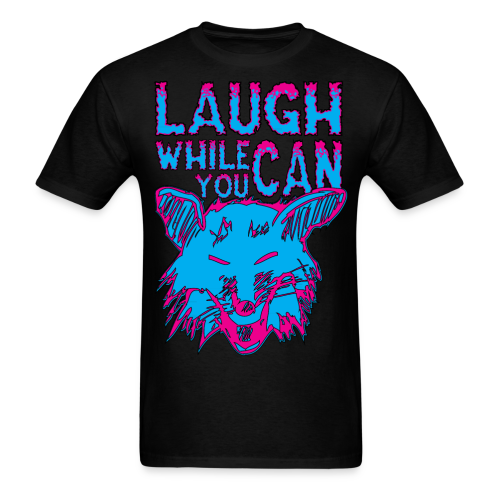 Laugh While You Can - Neon Laughing Fox - Men's T-Shirt