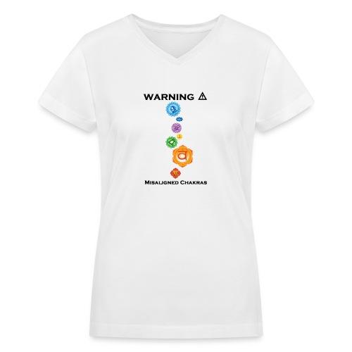 Misaligned Chakras Women's T - Women's V-Neck T-Shirt