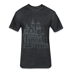 Neuschwanstein Castle - Fitted Cotton/Poly T-Shirt by Next Level