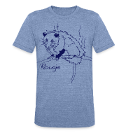 T-Shirts ~ Unisex Tri-Blend T-Shirt ~ Rougie the Stinky Possum