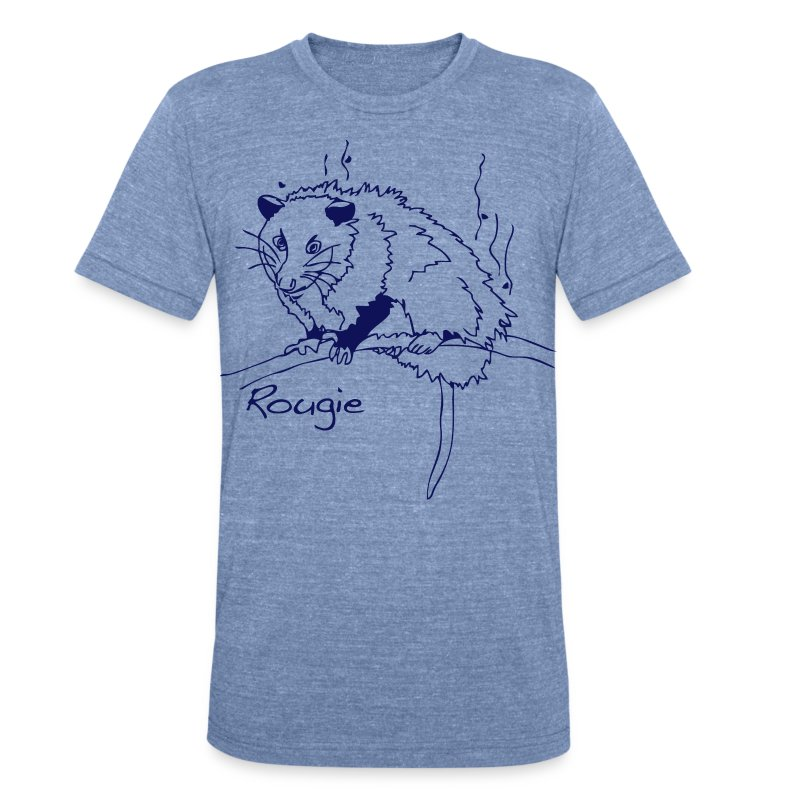 Rougie the Stinky Possum - Unisex Tri-Blend T-Shirt by American Apparel