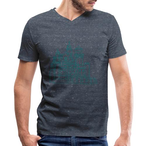 Neuschwanstein Castle - Men's V-Neck T-Shirt by Canvas