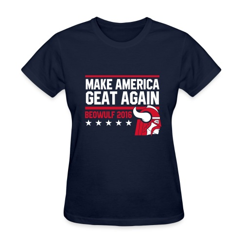 Make America Geat Again Womens' Navy T-Shirt - Women's T-Shirt