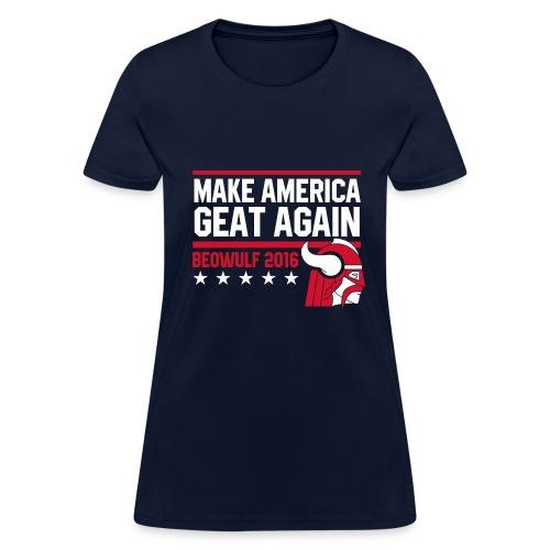 Make America Geat Again Womens' Navy T-Shirt - Women's T-Shirt