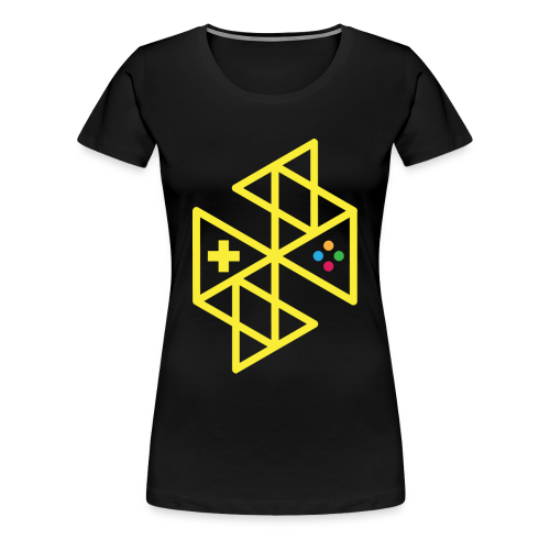 Abstract Gaming Yellow Women's - Women's Premium T-Shirt