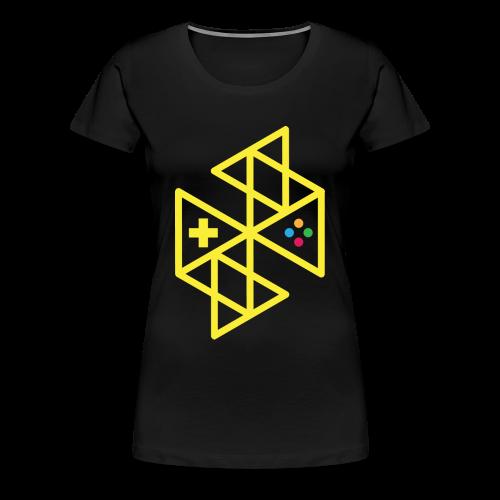 Abstract Gaming Yellow Women's - Women's Premium T-Shirt
