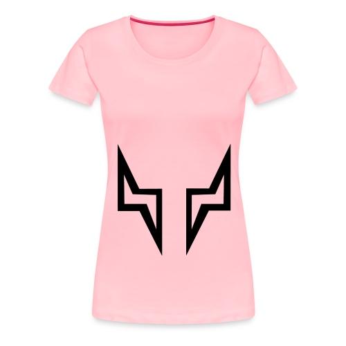 BLACK EYES OUTLINE - 1 - Women's Premium T-Shirt