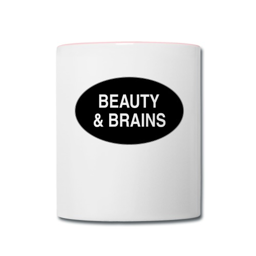 Beauty & Brains Drinking Cup - Contrast Coffee Mug
