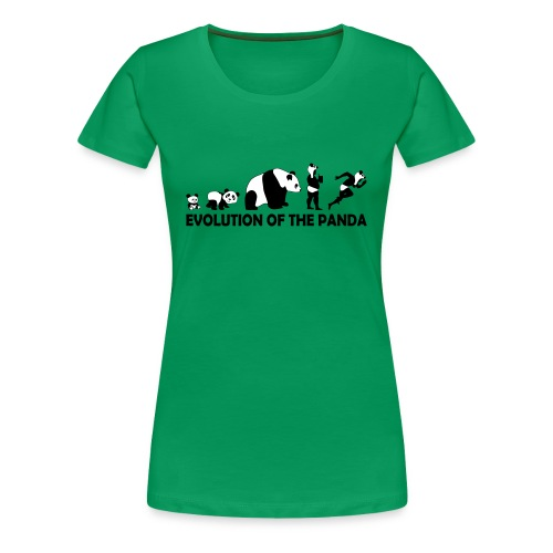 Evolution of the Panda - Women's Premium T-Shirt