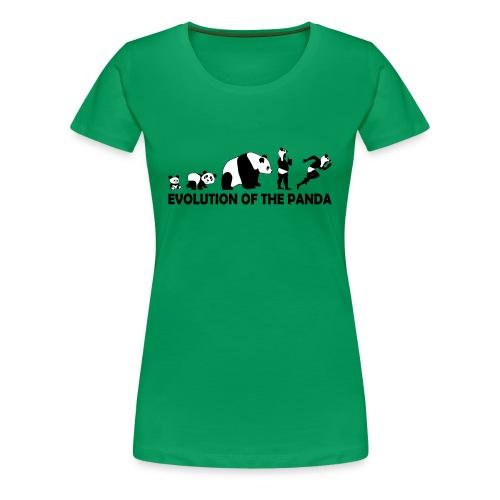 Evolution of the Panda - Women's Premium T-Shirt