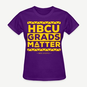 HBCU Grads Matter - Women's Purple and Gold T-shirt - Women's T-Shirt